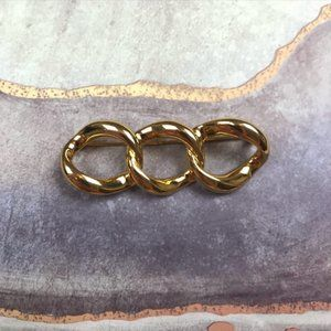 🌵 Vintage Gold Chain Link Brooch Pin